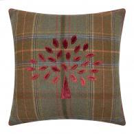 Mulberry Tree Plaid Cushion - 50x50cm - Red